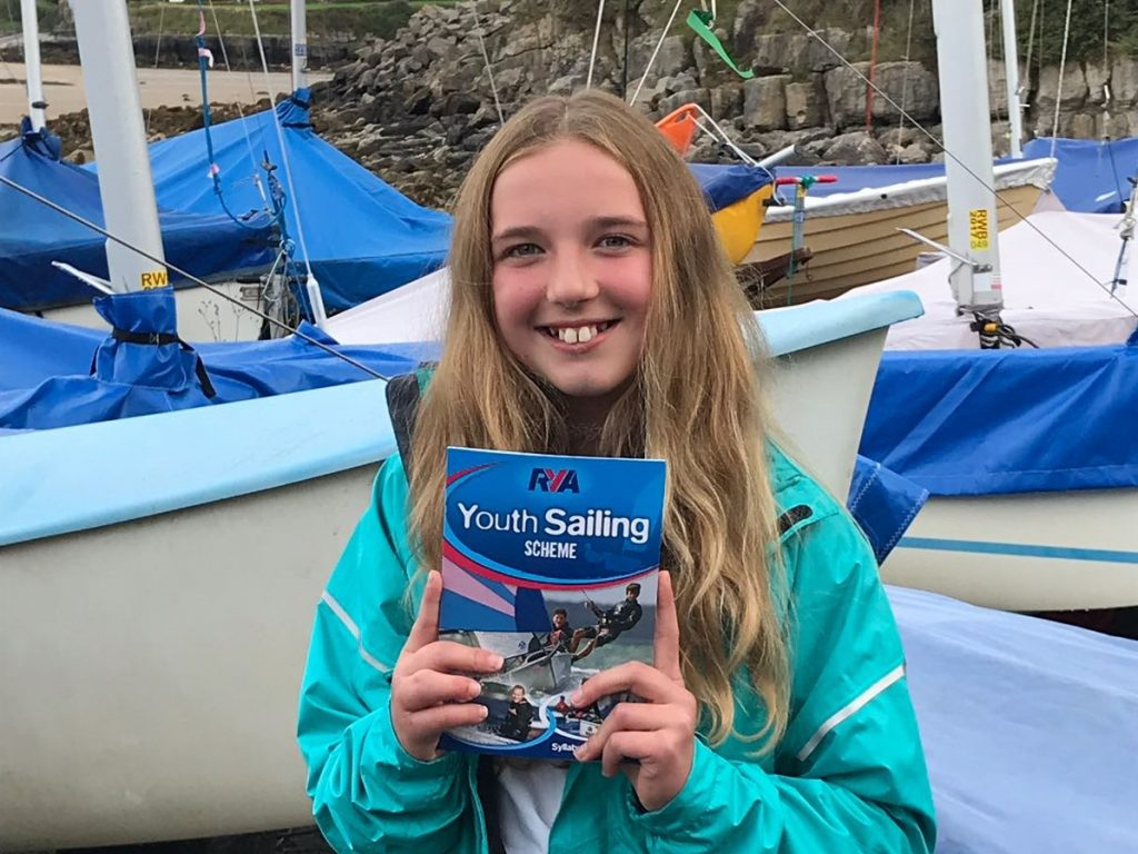 Evie Williams RYA youth sailing scheme