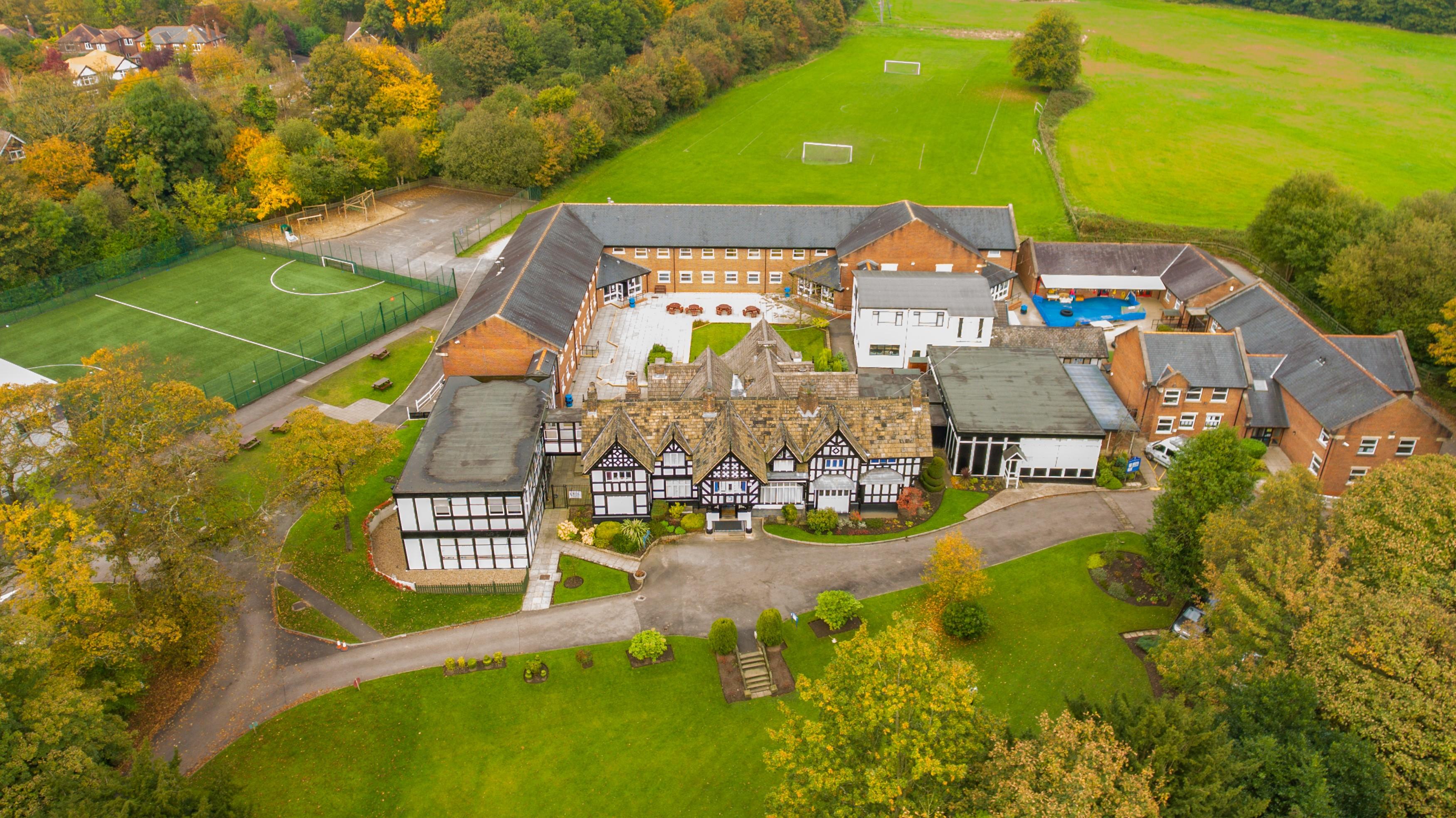 Bridgewater School aerial view