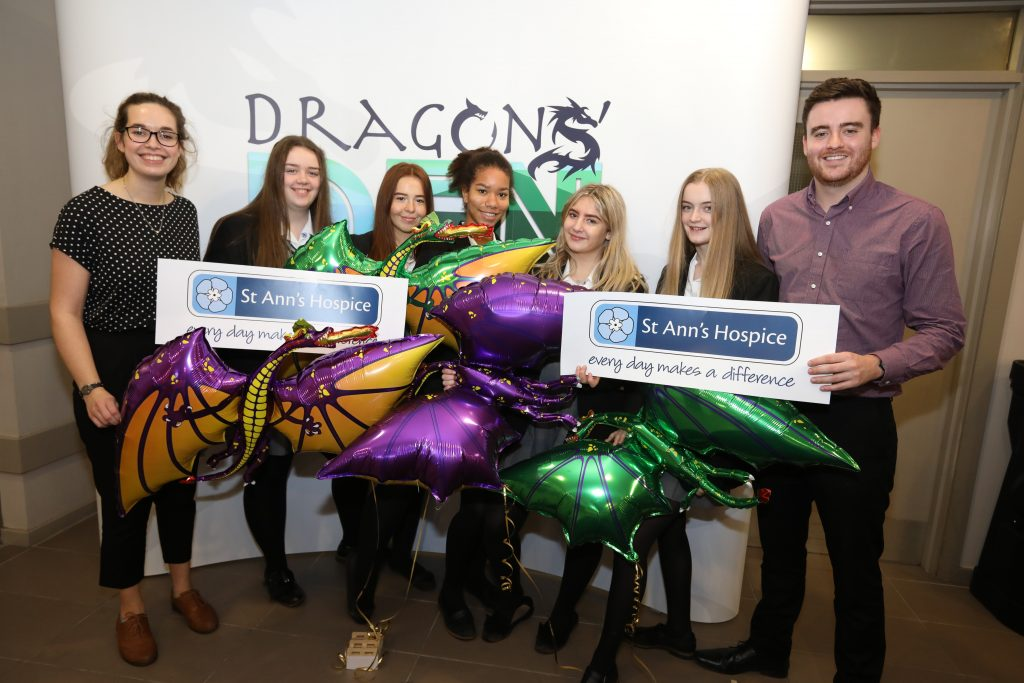 Bridgewater Y10s at Dragons Den final